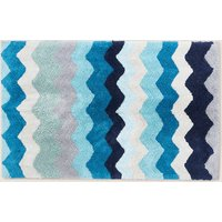 Cotton Zig Zag Pattern Bath Mat