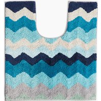 Cotton Zig-Zag Pattern Pedestal Mat