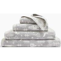 Scandi Woodland Jacquard Towel