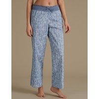 M&S Collection Pure Cotton Floral Print Pyjama Bottoms