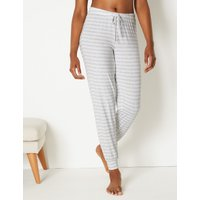 M&S Collection Striped Long Pyjama Bottoms