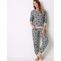 M&S Collection Star Print Long Sleeve Pyjama Set