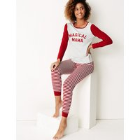 M&S Collection Magical Mama Long Sleeve Pyjama Set