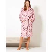 M&s Collection Fleece Star Print Dressing Gown