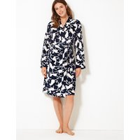 M&s Collection Animal Short Dressing Gown