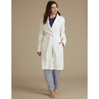 M&S Collection Textured Dressing Gown