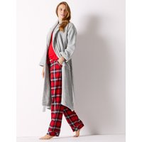M&s Collection Pure Cotton Towelling Dressing Gown