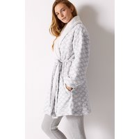 M&S Collection Cloud Print Long Sleeve Dressing Gown
