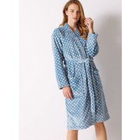 M&S Collection Fleece Spotted Long Sleeve Dressing Gown