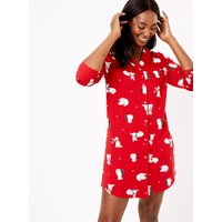 M&S Collection Cotton Modal Printed Nightshirt