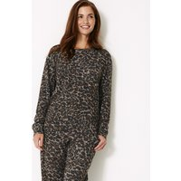 M&S Collection Animal Print Long Sleeve Lounge Top