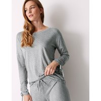 M&S Collection Textured Long Sleeve Pyjama Top