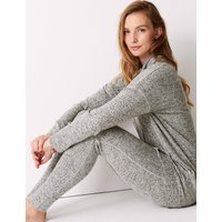 M&S Collection Cosy Knit Cowl Neck Longline Pyjama Top