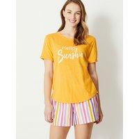 M&S Collection Hello Sunshine Slogan Pyjama Top