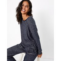 MandS Collection Cosy Printed Lounge Top