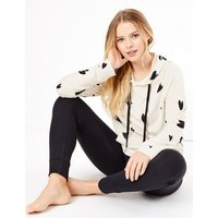 M&S Collection Flexifit Heart Print Hooded Lounge Top