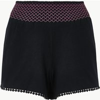 M&S Collection Pure Cotton Embroidered Pyjama Shorts