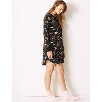 M&S Collection Cotton Rich Safari Print Nightdress