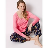 M&S Collection Pure Cotton Floral Print Pyjama Set
