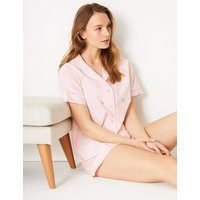 M&S Collection Pure Cotton Butterfly Short Pyjama Set
