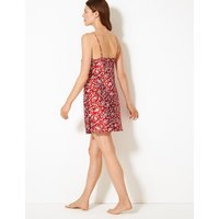 M&s Collection Satin Paisley Print Chemise