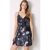 M&s Collection Satin Floral Print Strappy Chemise