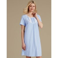 M&S Collection Polka Dot Short Sleeve Nightdress