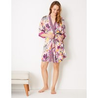 M&s Collection Tropical Wrap Short Dressing Gown