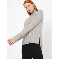 Autograph Pure Cashmere Relaxed Fit Cable Knit Jumper