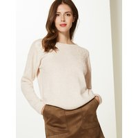 M&S Collection Embroidered Round Neck Jumper