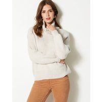M&S Collection Textured Roll Neck Jumper