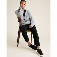 MandS Collection Cotton Knitted V-Neck Relaxed Cardigan