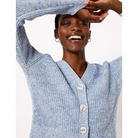 MandS Collection Pure Cotton Ribbed Relaxed Cardigan