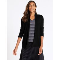 M&S Collection Textured Long Sleeve Cardigan