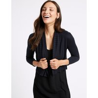 M&S Collection Open Front 3/4 Sleeve Cardigan