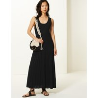 M&S Collection Linen Blend Round Neck Knitted Dresses