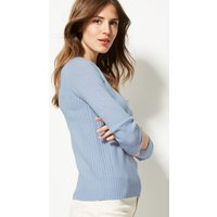 M&S Collection Lambswool Rich Textured Round Neck Jumper
