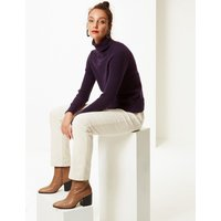 M&S Collection Lambswool Rich Textured Roll Neck Jumper
