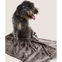 M&S Paw Pattern Pet Blanket - 1SIZE - Grey, Grey,Beige