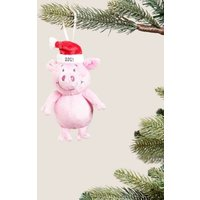 M&S Percy Pigtm Percy Pig Plush Hanging Tree Decoration - 1SIZE - Pink, Pink