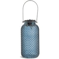 Large Blue Solar Jar Light