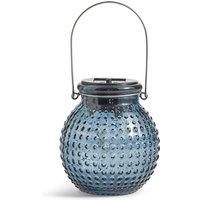 Small Blue Solar Jar Light