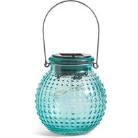 Small Turquoise Solar Jar Light