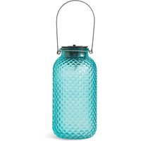 Large Turquoise Solar Jar Light