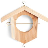 Wooden Apple Feeder
