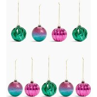 9 Pack Glass Jewel Tone Baubles