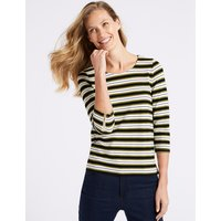 Classic Striped Round Neck Long Sleeve Top