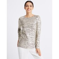 Per Una Animal Print Foil Long Sleeve Top