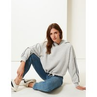 M&S Collection Cotton Blend Long Sleeve Cropped Sweatshirt