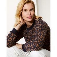 M&S Collection Animal Print Long Sleeve Sweatshirt